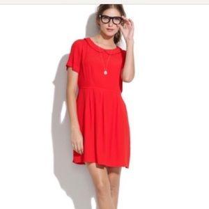 Madewell red Peter pan collar dress